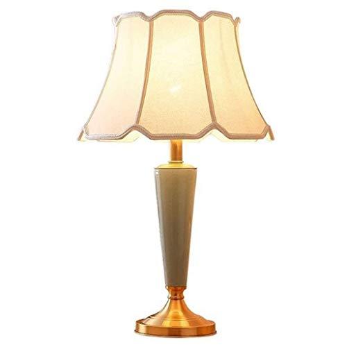 SPNEC Lámparas de Mesa de Cobre lámpara de Mesa de cerámica, Dormitorio, Estudio, lámpara de Mesa de cerámica Decorativa lámpara de Mesa