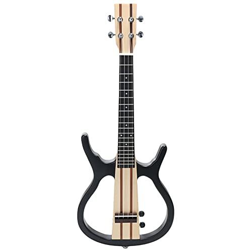 4 Cuerdas 26in La Pequeña Guitarra Eléctrica Acústica Conecta El Auricular Y El Orador Ukelele para El Rendimiento Concierto Ukulele