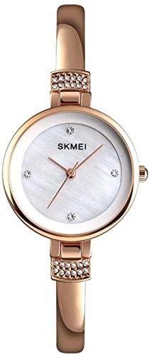 Reloj de diamantes de aleación de señoras reloj simple y elegante exquisito y hermoso pequeño reloj-Rosegold-Rosegold