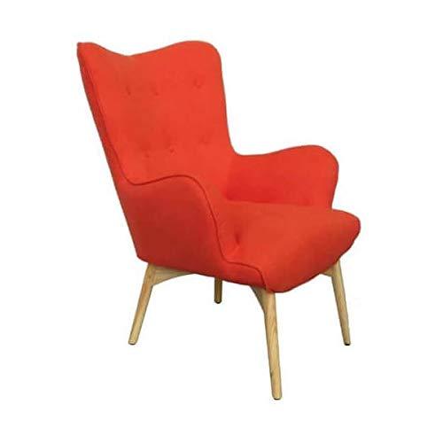 MATHI DESIGN Fauteuil scandinave Java Orange