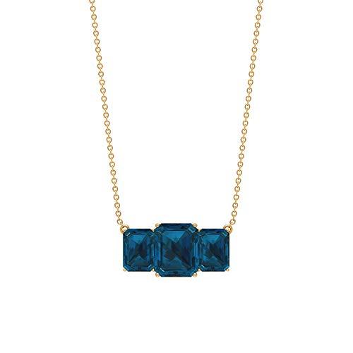 Rosec Jewels 18 quilates oro amarillo Octagone Blue Topacio azul - Londres