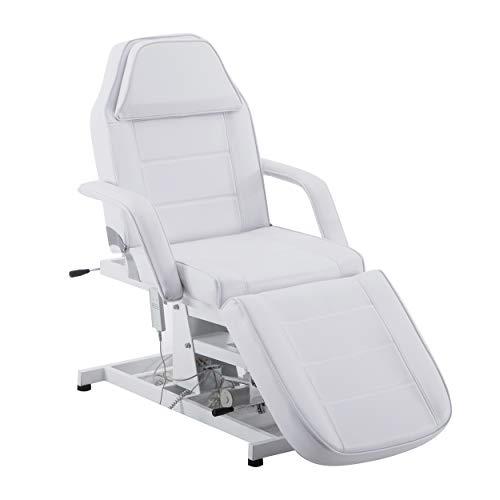 BarberPub Elektrische Kosmetikliege Therapieliege Massageliege Tattooliege Schönheitsausrüstung (Weiß)