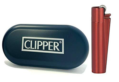 Clipper Metall Teufel Rot Feuerzeug Box (ovp) Edel Design