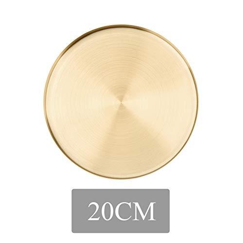 enomaa Bandeja de almacenamiento exhibición de joyas baño redondo que ahorra espacio cocina multifunción hogar cocina oro delicado acero inoxidable