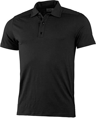Lundhags Gimmer Polo léger en mérinos Homme, Black Modèle M 2021 T-Shirt Manches Courtes
