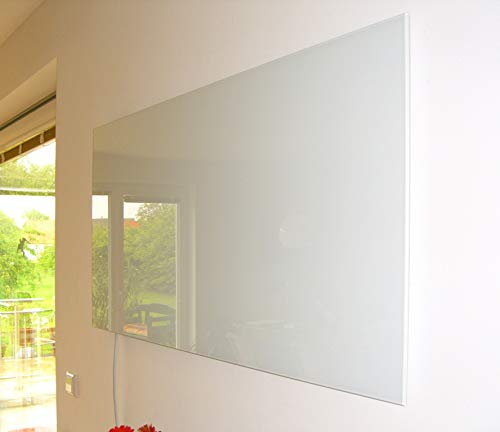 insidehome | Infrarotheizung Glasheizung ELEGANCE Classic H | Glas rahmenlos | ergänzbar mit bis zu 3 Handtuchhaltern | Farbe: weiss | 450 Watt – 60 x 70 x 1,8 cm Bild 5*