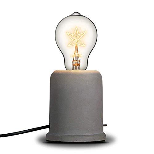 Injuicy Loft Retro E27 Edison Vintage Industriell aus Zement Tischlampen Antiquität LED Schreibtischlampe Lampe Stellen für Nachttisch Café Bar Lampe de Nuit De Studio Porte D Eingang Wohnzimmer (#B)