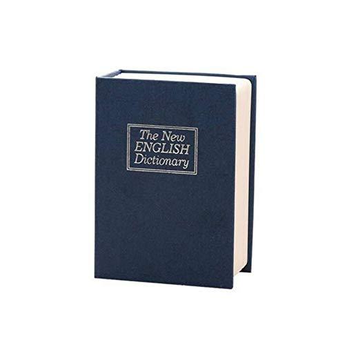 Kassa MYKK Creatieve Woordenboek Boek Spaarpotten Spaarpot Met Slot Verborgen Geheime Beveiliging Kluis 11.5 * 8 * 4.6cm donkerblauw