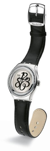 Swatch Irony Nabab - Reloj de Mujer de Cuarzo, Correa de Piel Color Negro