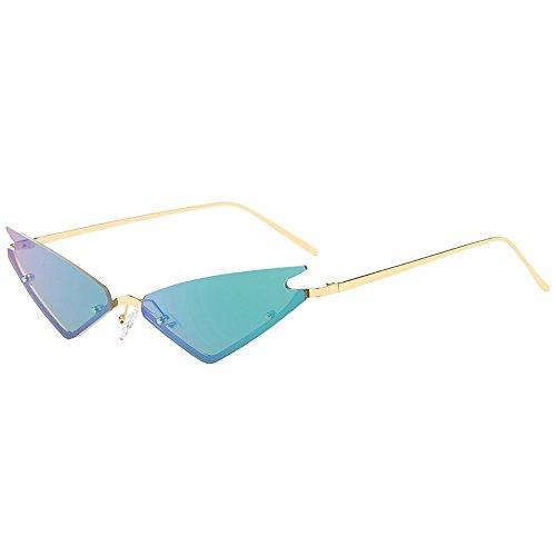 Topgrowth Donna Uomo Ovale Occhiali da Sole Retro UV400 Vintage Occhialoni Unisex Rotondo Lente (B)