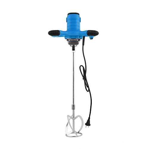 Miscelatore Elettrico, 1600W Miscelatore Elettrico a Mano Portatile Trapano Miscelatore per Malte Paint Mud Grout, Blu
