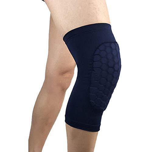 Gifftiy Kniepolster 1Pc Honeycomb Knee Pads Basketball Sport Kneepad Volleyball Knee Protector Brace Support Football Compression Leg Sleeves-Deep_Blue_L