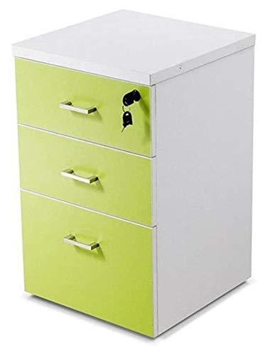 Archivador de archivos, de gran capacidad, deslizante, antirrobo, caja de almacenamiento para el hogar u oficina (color: 40 x 40 x 60 cm, tamaño: verde)