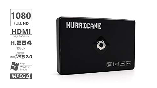 Hurricane Digital Video Media Player Mini tv Box 500GB Disco r'GIDO Con telecomando e cavo per TV supporta HDMI YPbPr USB VGA SD Card Alimentatore Full HD Multimedia HDD MKV