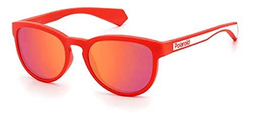 Polaroid Gafas de sol PLD 8030 3KJ OZ rojo blanco lentes polarizadas unisex niño