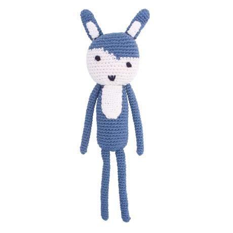 Häkel-Tier, Siggy das Kaninchen, royal Blue