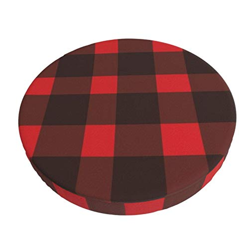 Round Bar Stools Cover,Buffalo Plaid,Stretch Chair Seat Bar Stool Cover Seat Cushion Slipcovers Chair Cushion Cover Round Lift Chair Stool