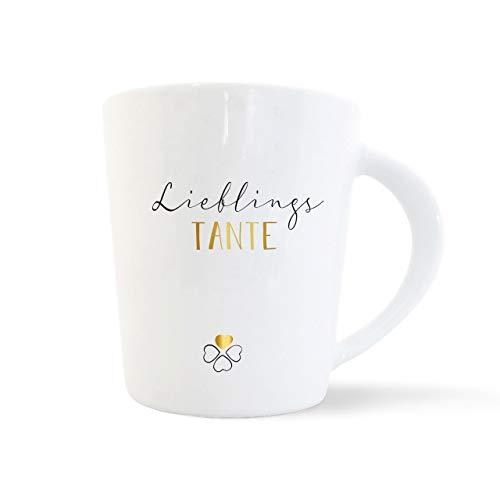 mintkind® Kaffeebecher Lieblingstante | Geschenk-Idee für die Tante | Porzellan-Tasse als Geschenk für die Beste Tante zum Geburtstag, zu Ostern, zu Weihnachten oder als Dankeschön