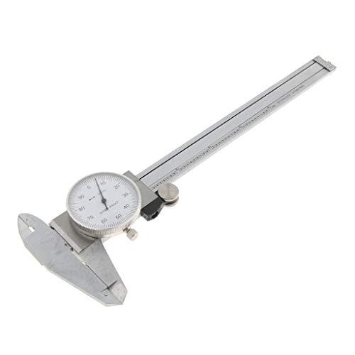 perfeclan Micrómetro de Calibre Calibrador de Dial Caliper Herramientas de Jardinería Cortacésped