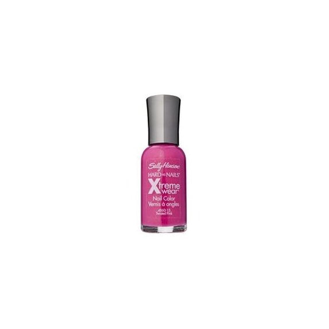 シュート内陸オリエンテーション(3 Pack) SALLY HANSEN Hard As Nails Xtreme Wear - Twisted Pink (並行輸入品)