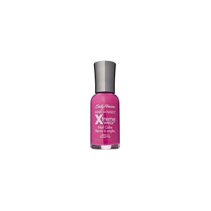 まろやかな滑りやすい句読点(6 Pack) SALLY HANSEN Hard As Nails Xtreme Wear - Twisted Pink (並行輸入品)