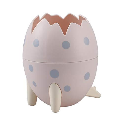 Ishine Lindo titular de la pluma del huevo del dinosaurio titular desmontable divertido escritorio almacenamiento cubo pluma taza papelería organizador suministros escolares regalos para niños