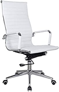 LANNY Home Office Desk Chair Gaming Swivel Computer Laptop PU Leather Ribbled High Back Arm Furniture 053# Ergonomic 360 D...