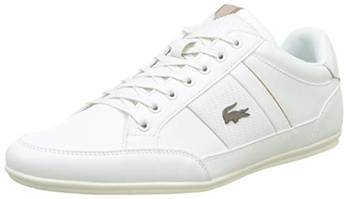 Lacoste Herren Chaymon 319 1 CMA Sneaker, Weiß (Off White/Light Brown 2r2), 43 EU
