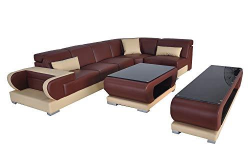 JVmoebel Eck Sofa Couch Polster Leder Couchen Sofas Wohnlandschaft Luxus Garnitur Ecke