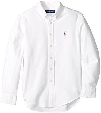 Polo Ralph Lauren Kids Boy s Cotton Oxford Sport Shirt Big Kids White MD 10 12 Big Kids product image