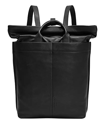 Liebeskind Berlin by Side Backpack, Zaino Unisex-Adulto, Nero, Large (HxBxT 46cm x 12cm x 28cm)
