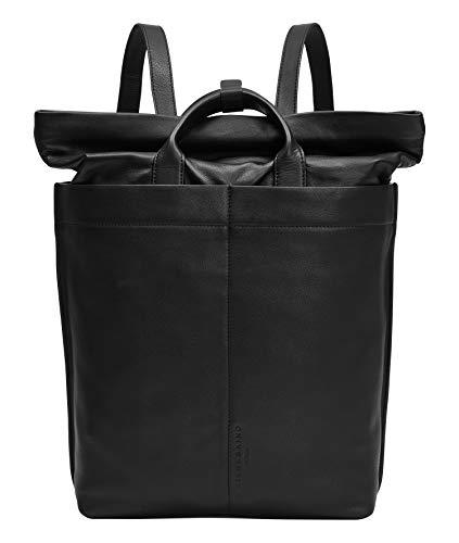 Liebeskind Berlin Side by Side Backpack Rucksack, Large (46 cm x 12 cm x 28cm), black