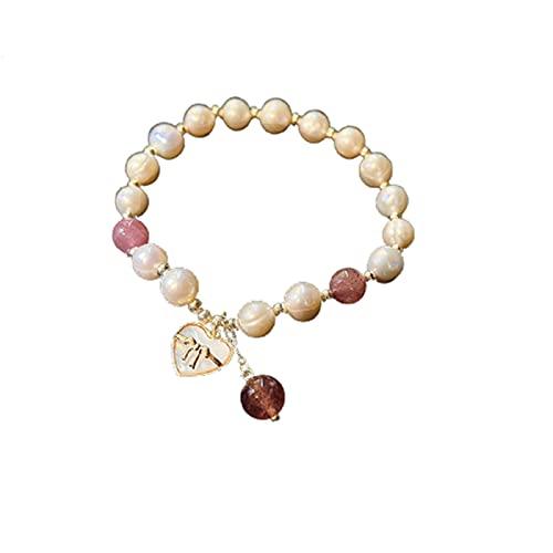 GAOZHEN Pulsera Fina y versátil, diseño de Perlas de diseño de Moda, Ornamentos exquisitos,Oro