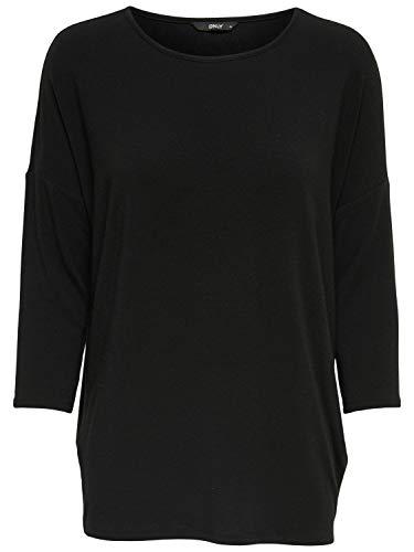 Only Onlglamour 3/4 Top Jrs Noos Camiseta, Negro (Black Black), Large para Mujer