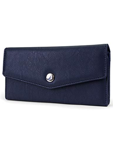 Nautica Money Manager RFID Women's Wallet Clutch Organizer (Indigo Buff)