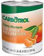 Carbotrol #10 Juice Packed Canned Fruit, Mandarin Oranges (1 - 104oz Cans per Case)