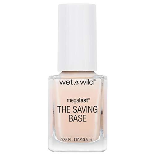 Wet n Wild Base Coat Megalast The Saving base (Never Basic) - Base para uñas – Máxima Resistencia - Tratamiento 10 en 1 - 1 unidad