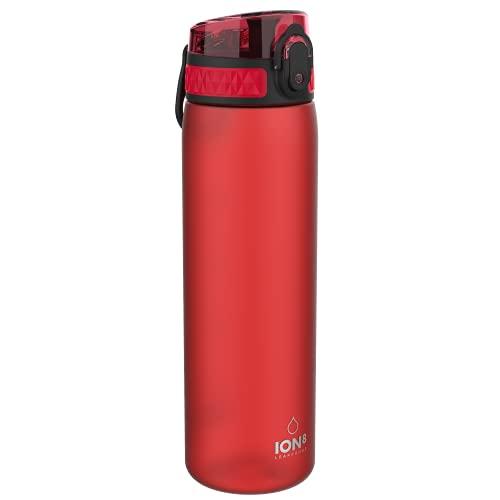 Ion8 Sottile, Borraccia Senza Perdite, Senza BPA Unisex, Rosso, 500 ml