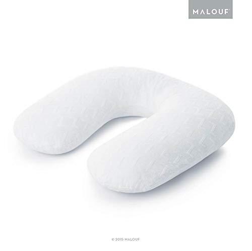 MALOUF Z Horseshoe Pregnancy Supportive U-Shaped Body Pillow, Queen