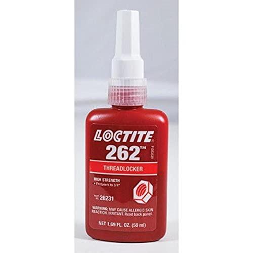 Loctite 26231 Red 262 High-Strength Threadlocker, 1.69 fl. oz. Bottle