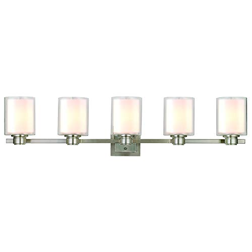 Design House 556175 Oslo 5 Light Vanity Light, Satin Nickel
