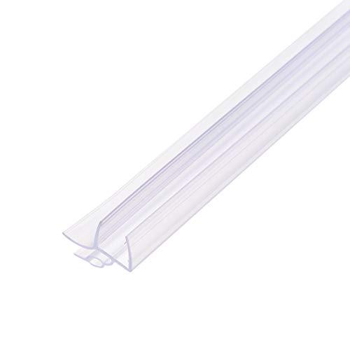uxcell - Barra para puerta de ducha de cristal sin marco, tira de sellado lateral inferior de la puerta con barra de goteo de 5/8 pulgadas, vidrio de 3/8 pulgadas x 39.37 pulgadas de longitud