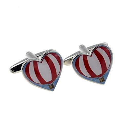 Ashton en Finch Hot Air Ballon Nieuwigheid Hartvormige Manchetknopen met Geschenkdoos & Verzending uit het Verenigd Koninkrijk