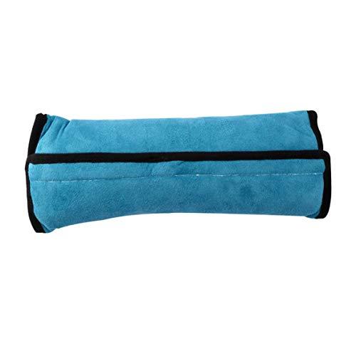 Universal Baby Children Car Safety Seat Belt Pillow Strap Soft Shoulder Pad Headrest Auto Car Cushion Support Children Protect-Blue