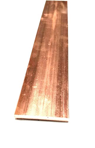 AC/DC Wire And Supply Copper 110 Flat Bar 3/8' x 1' x 6'-Long -.375' x 1' Copper Bus Bar Copper Bus Bar - Arts Hobbies Crafts Industrial DIY