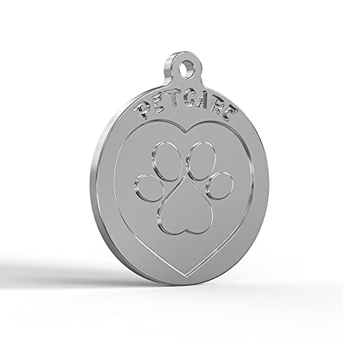 PetCare SmarTraqr+ Placa Inteligente Joya para Perros y Gatos de cualquier tamaño Pequeña y Ligera con acabado Premium y Triple Tecnología de Localización GPS sin baterías (ZPS) para collar