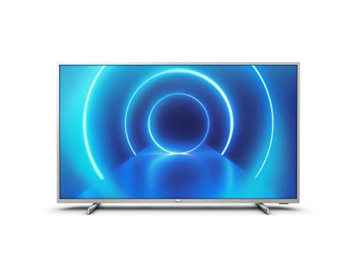 Televisor 4K UHD Philips 70PUS7555/12 de 178 cm (70 pulgadas) (4K UHD, P5 Perfect Picture Engine, Dolby Vision, Dolby Atmos, HDR 10+, Saphi Smart TV, HDMI, USB), Color plata (modelo de 2020/2021)