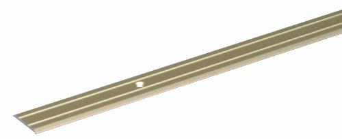 GAH-Alberts 491390 Übergangsprofil | gebohrt | Aluminium, sandfarbig eloxiert | 900 x 38 mm