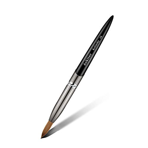 Aokitec Kolinsky Acrylic Nail Brush #12 Oval Crimped Sable Acrylic Brush...