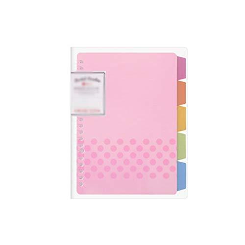 wyh Tapa Dura Cuaderno El Cuaderno de Hojas Sueltas y el núcleo Interno de la libreta Son Cuadernos de Diario reemplazables Libro para Estudiantes (Pattern : C)